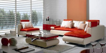 VIG Furniture VGBNB205  Sofa and Chaise Leather Sofa