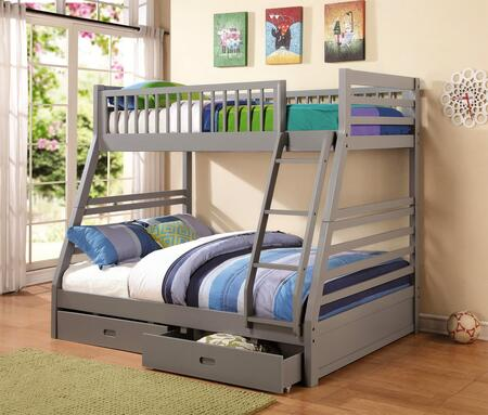 Coaster 460 Cooper Twin and Full Bunk Bed with Two Storage Drawers, Attached Ladder and Safety Rails