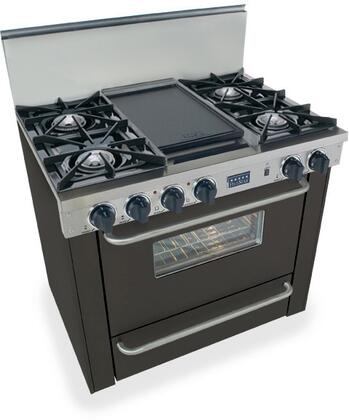 "FiveStar TTN3107 36"" Freestanding Natural Gas Range With 4 Open Burners, 3.69 Cu. Ft. Manual Clean Oven, 120 Volts, 10 Amps, In"