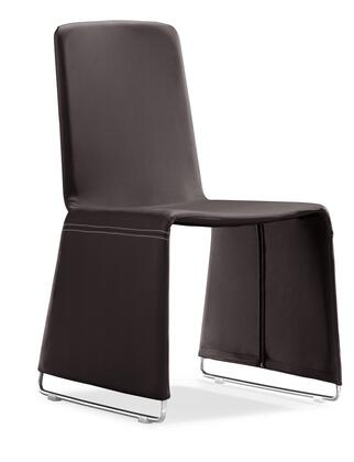 Zuo 102112 Nova Series Modern Leatherette Chromed steel Frame Dining Room Chair