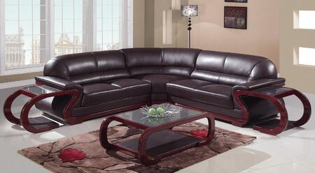 Global Furniture USA A086BR3pc2ET  Leather Sofa