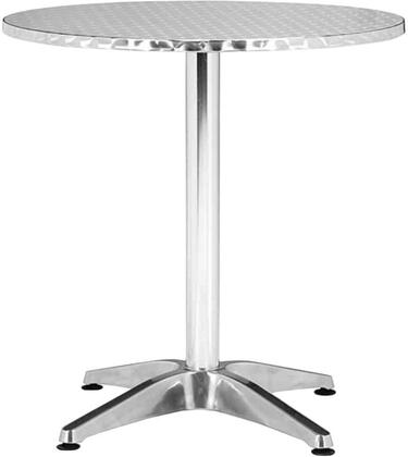 "Zuo 7006 Christabel 28"" Table in Aluminum"