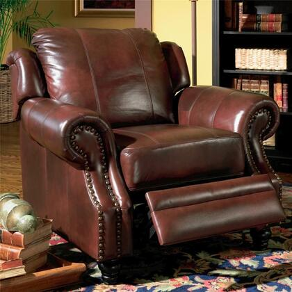 Coaster 500663 Princeton Series Traditional Leather Wood Frame  Recliners