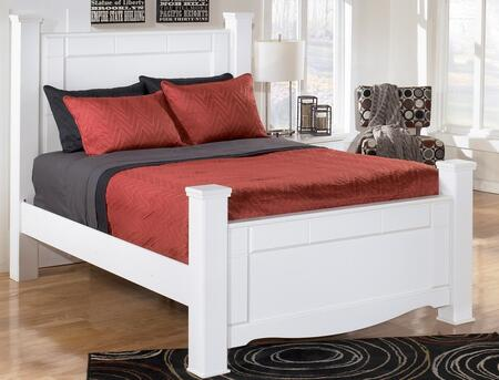 Signature Design by Ashley B270POSTERBED Weeki Collection Poster Bed x Size in White
