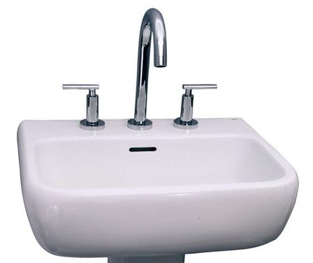 """Barclay B/3-93WH Metropolitan 420 Basin Only, with Pre-drilled Faucet Holes, Overflow, 5.5"""" Basin Depth, and Vitreous China Construction, in White"""