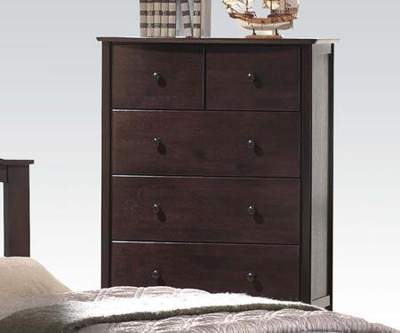 "Acme Furniture San Marino 35"" Chest with 5 Drawers, Side Metal Glide Drawer, Medium-Density Fiberboard (MDF) and Rubberwood Construction in"
