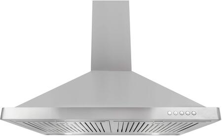 Cosmo 63190FT Canopy Style Wall Mount Hood with 760 CFM Airflow Capacity, 3-Speed Push Button Control, Stainless Steel Baffle Filters, LED Lights and Ultra Quiet Operation in Stainless Steel