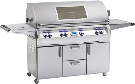 FireMagic E1060S-4E1X-62-W Echelon Diamond Series Free Standing X Grill,1056 sq. in. Cooking Area with Hot Surface Ignition and Cast E Burners a Window and Shelf: Stainless Steel