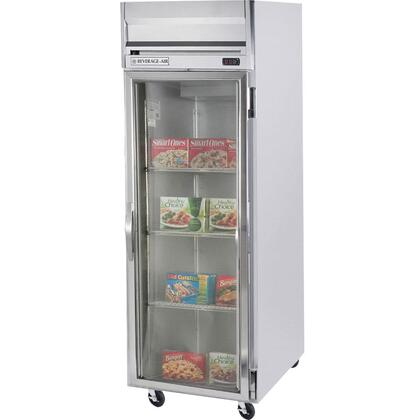 Beverage-Air HFPS1-1 Horizon Series One Section [Solid Door] Reach-In Freezer, 24 cu.ft. Capacity, Stainless Steel Exterior and Interior