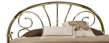 Hillsdale Furniture 107HR Jackson Open Frame Headboard with Rails Included, Scrollwork, Arched Outer Frame and Metal Construction in Classic Brass Plate Color