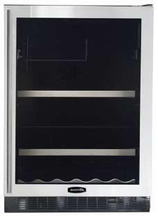 "AGA APRO6BARMWHTR 23.88"" Built-In Wine Cooler, in White"