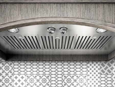 Elica EARXXXS2 Aspire Series Arezzo Hood Insert with Internal Blower, Dishwasher-Safe Stainless Steel Baffle Slot Filters, Metallic Rotating Knob Controls, and Halogen Light: Stainless Steel