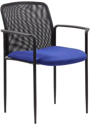 """Boss B6909 33"""" Stackable Guest Chair with Tapered Legs, Painted Tubular Steel Frame, Molded Cap Arms, Waterfall Seat and Upholstered in Mesh Fabric"""