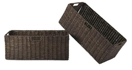 Winsome 38Gran Granville Foldable Baskets, Chocolate