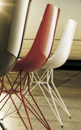 Modloft CDJ167PBL6 Audley Series Modern Not Upholstered Metal Frame Dining Room Chair