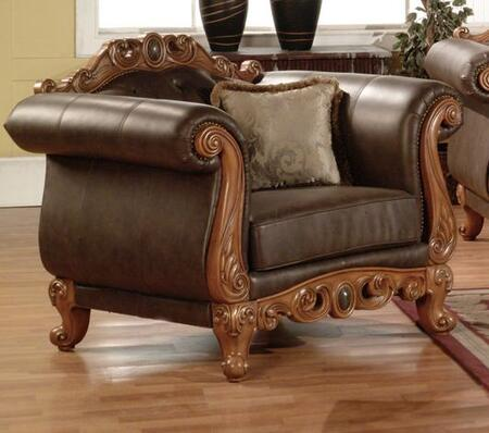Meridian 668C Leather with Wood Frame