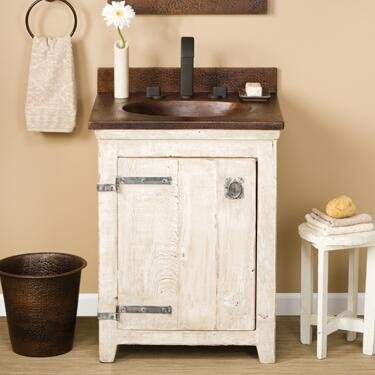 """Native Trails VNB24 24"""" Americana Vanity with Handcrafted Design, Recycled Wood, Large Storage Compartment and Finished in"""