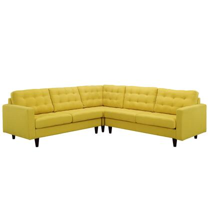 Modway EEI1417SUN Empress Series Stationary Fabric Sofa