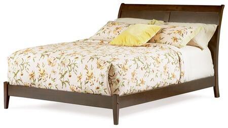 Atlantic Furniture BORDEAUXOFQUEENAW Bordeaux Series  Queen Size Bed
