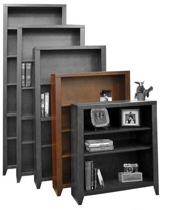 Legends Furniture UL6648MOC Urban Loft Series Wood 3 Shelves Bookcase