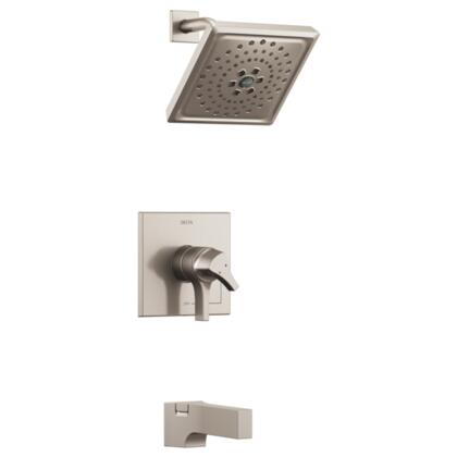 Zura T17474-SS Delta Zura: Monitor 17 Series H2Okinetic Tub and Shower Trim in Stainless