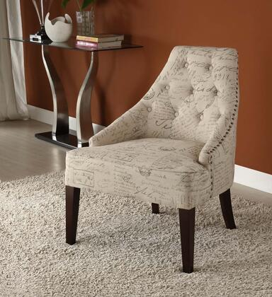 Armen Living LC2095VIFR Fabric Armchair with Wood Frame
