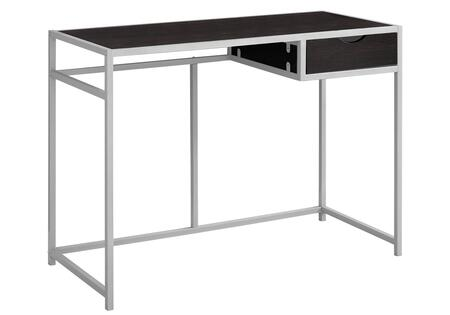 """Monarch I722DESK 42"""" Computer Desk with Metal Frame, MDF Top and Drawer in"""
