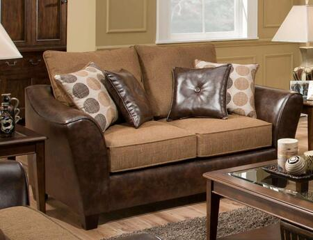Chelsea Home Furniture 1832024820 Fabric Stationary with Wood Frame Loveseat