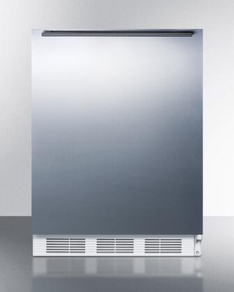 """AccuCold ALF620BISSXX 24"""" ADA Compliant Medical All-Freezer with 3.2 cu. ft. Capacity, Manual Defrost, 3 Drawer Bins, and Adjustable Thermostat: Stainless Steel"""