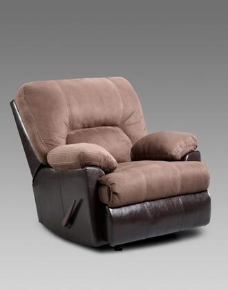 Chelsea Home Furniture 192800L Kira Chaise Rocker Recliner with 16 Gauge Wire, Zippered Seat Cushions, Sinuous Springs, Solid Kiln Dried Hardwoods and Engineered Wood Products in