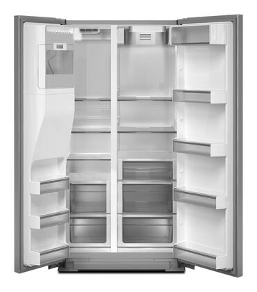 Whirlpool Gss26c4xxw Side By Side Refrigerator With 26 4