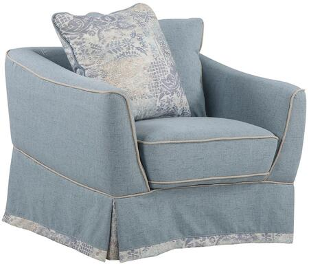 Glory Furniture G618C Fabric Armchair in Sky Blue
