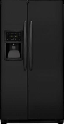 "Frigidaire FFSC2323T 36"" ADA Compliant Side-by-Side Refrigerator with Automatic Ice Maker, 22.2 cu. ft. Capacity, Dual Level LED Ligthing, PureSource 3 Ice and Water Filtration, and 3 Wire Freezer Shelves, in"