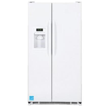 GE GSF25JGDWW  Side by Side Refrigerator with 25.3 cu. ft. Capacity in White
