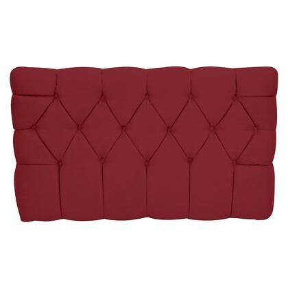 "Picture of ""Meridia 11201RS Collection"" Tufted Upholstered Twin Headboard with Metal Legs and Wood Frame in Red"