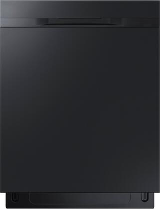 """Samsung Appliance DW80K5050UB 24"""" Energy Star Built-In Dishwasher with 15 Place Settings, Hard Food Disposer, Stainless Steel Tall Tub, FlexLoad Racking System and Digital Leakage Sensor, in"""