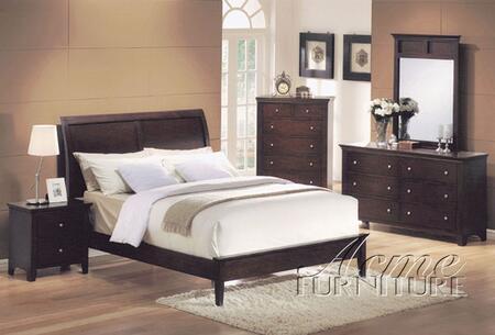 Acme Furniture 07510AQ Soho Series  Sleigh Bed