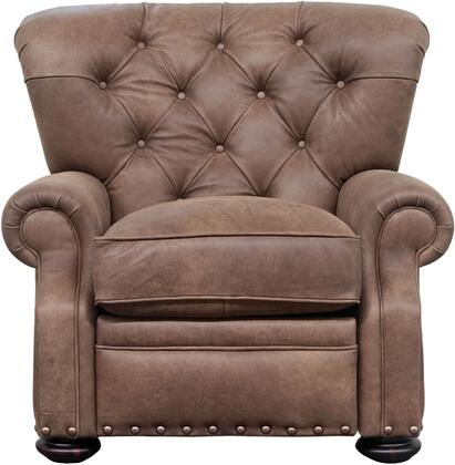Barcalounger 72167562188 Sinclair Series Leather Wood Frame Recliners ...