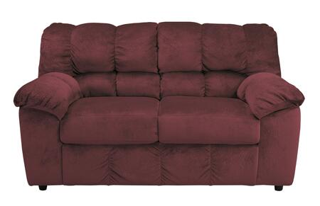 Signature Design by Ashley Julson 2660X35 Loveseat with Plush Padded Arms, Divided Back Cushion and Small Round Feet in