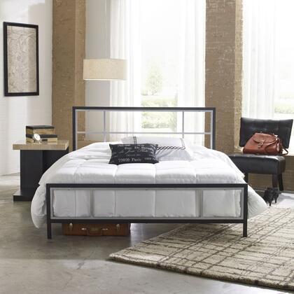 Rest Rite Joliet MFP01653xx X Size Platform Bed with Metal Frame and Modern Style in Black and Silver