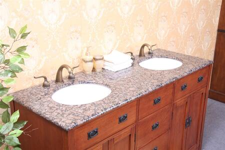 Legion Furniture WP5433-XX-61-D 61in. Granite, Backsplash and Cupc Sinks