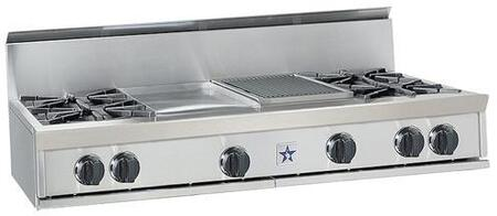 BlueStar RGTNB484GCBSS  Gas Open Burner Style Cooktop, in Stainless Steel