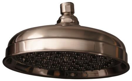 "Barclay 5589 10"" Euro Showerhead with 126 Brass and Rubber Nozzles:"