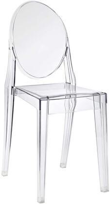 Modway EEI122CLR Casper Series Modern Not Upholstered Polyblend Frame Dining Room Chair
