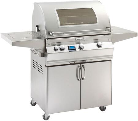 "FireMagic A660S5E1X62W Aurora 63"" Cart with 30"" Grill, Magic View Window, E-Burners, Side Burner, Digital Thermometer, and Up to 75000 BTUs Heat Output, in Stainless Steel"