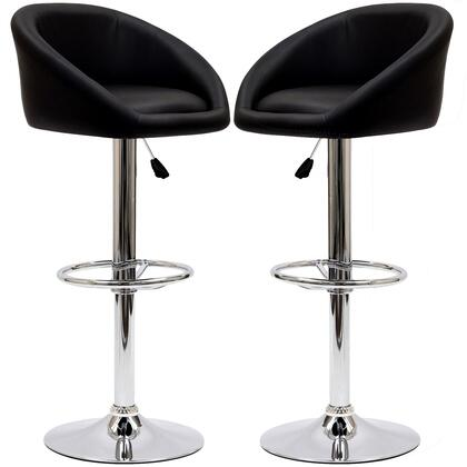 Modway EEI938BLK Marshmallow Series Residential Faux Leather Upholstered Bar Stool