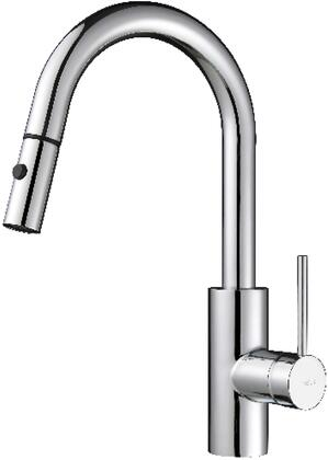 Kraus KPF2620260041 Oletto Series Pull-Out Kitchen Sink with Solid Brass Construction, Included Bar/Prep Faucet, and Soap Dispenser