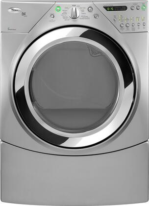 """Whirlpool WED9750WL 27"""" Electric Duet Steam Series Electric Dryer 