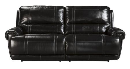 Signature Design by Ashley Paron U7590SF 2-Seat Reclining Sofa with Padded Arms, Plush Divided Back Cushions and Metal Drop-in Unitized Seat Box with Webbing in