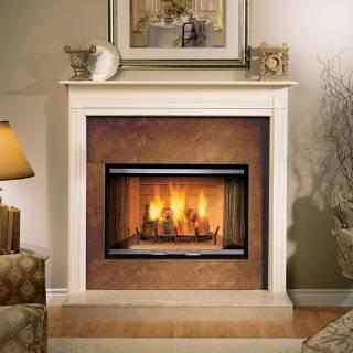 Majestic 36GDKXSR Standard Bi-Fold Glass Fireplace Doors for Sovereign Fireplaces: X with Black Track